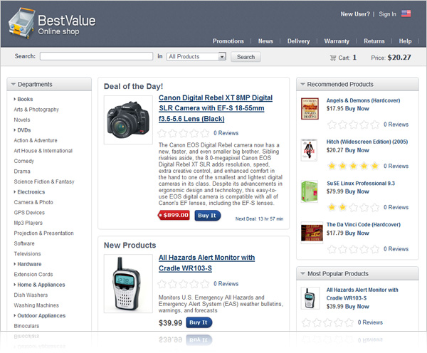 2f1a1913d04087 Shopping Cart - In-Portal Web 2.0 Content Management System (CMS)