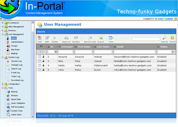 In-Portal free 2.0 Content Management System with discusion forum and directory
